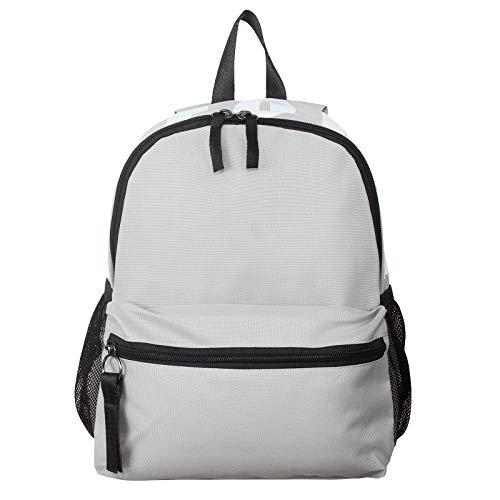 MINISO ノートパソコン用バックパック 軽量 カジュアル デイパック ポータブル 多目的バッグ レディース メンズ ガールズ ボーイズ 旅行用 US サイズ: M カラー: グレー