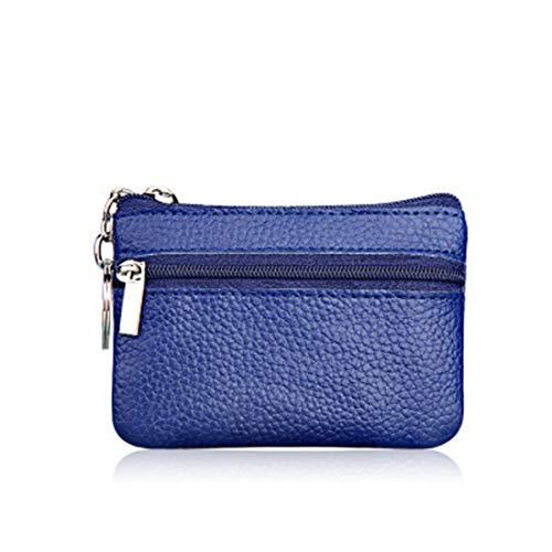Demarkt Mini portemonnee tas sleuteletui munten purse sleutels opbergtas opbergtas sleuteltas blauw