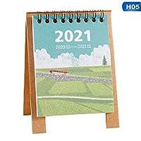 2021デスクカレンダーミニデスクトップデスクトップデスマークプランナーワークノートスケジュールチャートオフィスホームベッドルームデスクカレンダー (Color : H05)
