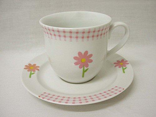 Taza Y Plato TE 200ML Porcelana Porcelana Margarita Rosa Vichy Rosa