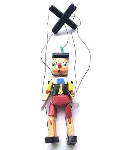Pinocho de Madera con Cuerda Multicolor,20cm ,HC Enterprise-019