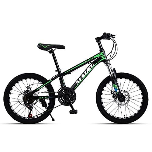 20 Pulgadas 21 Velocidades Bici Infantiles Bicicletas NiñOs,Bicicleta MontañA Todoterreno NiñOs/Frenos Doble Disco/Llanta Fresada/SillíN Elevable/Apto para NiñOs 120-145 Cm