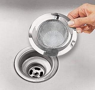 SHOP ONLINE Stainless Steel Strainer Kitchen Drain Basin Basket Filter Stopper Drainer Sink Jali wash Basin Jali/Strainer ...