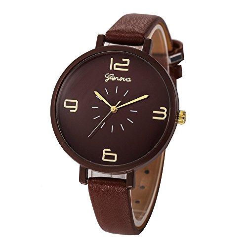 KUDICO Watches Womens Wrist Watches Strap Quartz Analog Watch Ladies Fashion Geneva Watches(Brown)