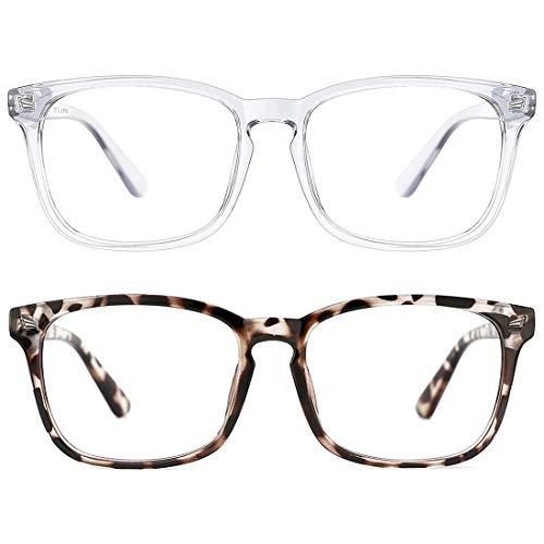 2 Pack Blue Light Blocking Glasses for Women Men