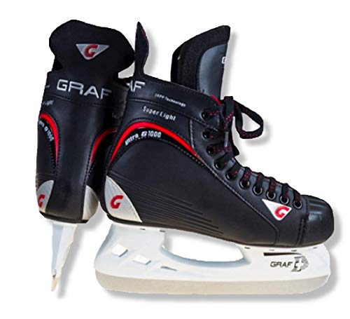 GRAF Eishockey Schlittschuhe G1000 mit GRAF Kufe Eishockeyschlittschuhe Größe 40 2/3