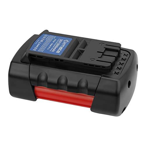 Exmate Batterie Kompatibel mit Bosch Rotak 32 LI, 34 LI, 37 LI, 43 LI Akku-Rasenmäher, Lithiumbatterie 36V 5000mAh