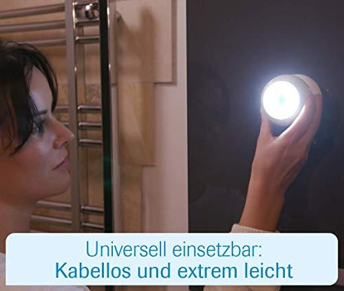 Mediashop Handylux Light-Ball LED Powerlicht- Ball - 360 Grad drehbar - magnetisch - Batterie-Leuchte   Taschenlampe - Bewegungssensor - Nachtlicht - Safe Touch Oberfläche - 4 Stück - 3