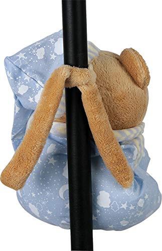 """Spieluhr""""Nils"""" zum Kuscheln und Einschlafen, der musikalische Teddy ist besonders weich und flauschig, als Einschlafhilfe oder Spielzeug, zum Aufhängen am Bettchen oder Kinderwagen - 4"""