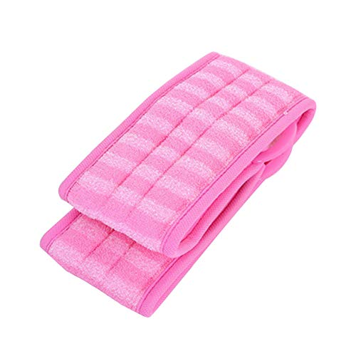 Ndier La Exfoliante Loofah Back Scrubber con Extra Large Natural Luffa Reduce Back Cepillos para baño de acné (Rosa)