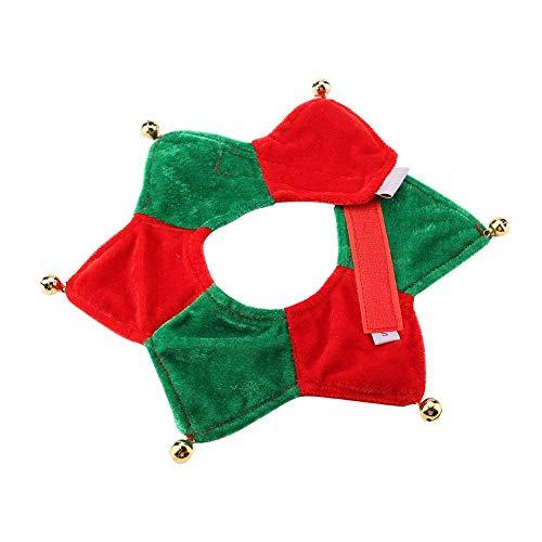 Verstelbare huisdier-kerstkraag katten-huisdier decoratieve kersthalsketting hals beugel verzorgingsmateriaal voor huisdieren met klokken voor katten honden
