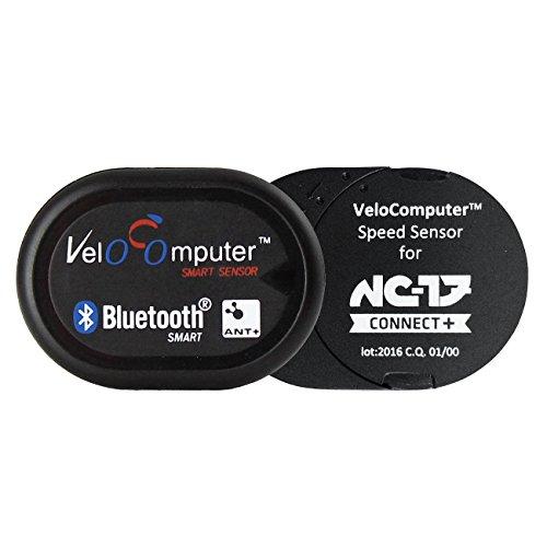 NC-17 Connect Velocomputer VC 5.1 für Geschwindigkeit oder Trittfrequenz, Fahrrad Dualband Sensor für iPhone und Android, Fahrradcomputer mit einfacher Montage