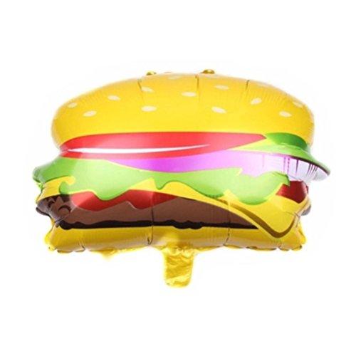 BESTOYARD Aluminiumfolie Ballon Hamburger Form Luftballon für Geburtstags Feiern Summer Thema Party Dekoration