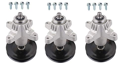 3 Spindles, 6 Point Star Shaft w/ Grease Zerk, Includes 12 Mounting Bolts Compatible With Spindle 618-0671 918-0671B 618-0671B 618-0671D 918-0671D 918-0671 618-04608 918-04608 618-04608A 918-04608A