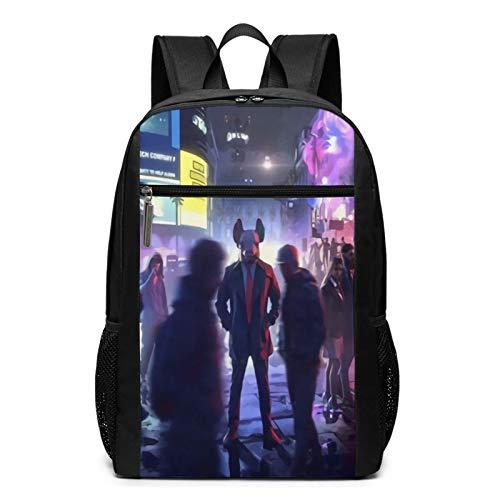 Wa-Tch Do-Gs - Mochila para portátil con iones de pierna para mujer y hombre, mochila universitaria, mochila de viaje, bolsa de libros para portátiles