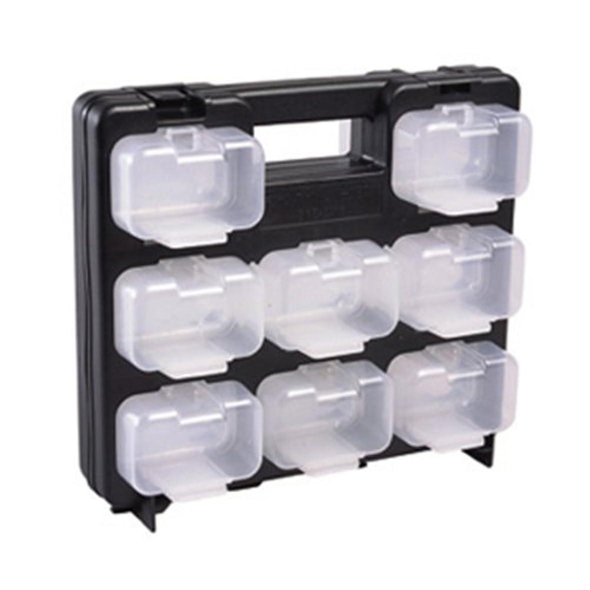 新しい意味探すどうやらデンサン スケルトンパーツボックスミニ 黒枠 フタ付ミニ小箱16個 SPS-2916