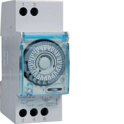 Hager EH209 - Interruptor horario Esfera Diaria sin Reserva manecilla 1 conmutador