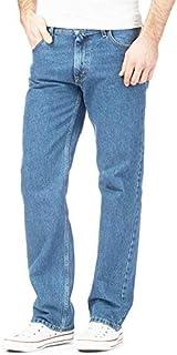 Mens Denim Jeans Cotton Original Plain Straight Leg Heavy Duty Denim Washed Jean Classic Designer Fit Casual Work Wear Zip...