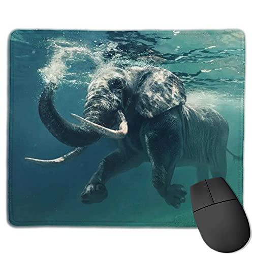 Alfombrilla de ratón para juegos de elefante africano en el océano, alfombrilla de ratón rectangular personalizada, goma antideslizante impresa cómoda almohadilla de ratón para computadora