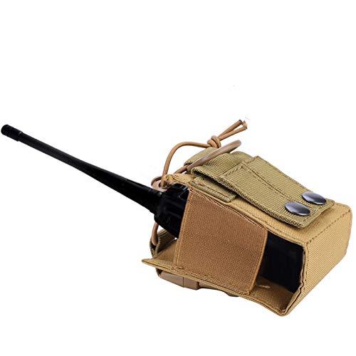 DAUERHAFT Estuche versátil Ligero para interfono con Estuche para Radio, para Juegos de Caza al Aire Libre(Khaki)