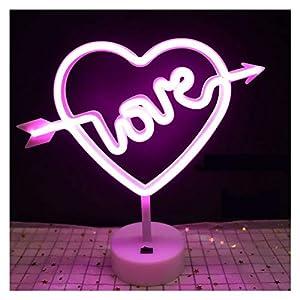 Lumières LED Enseignes au néon Lights personnalisé pour la chambre murale batterie de l'arc-en-ciel alimenté par USB LED Strip Creative Night Night Light Decor de mariage rose pour les chambres de la