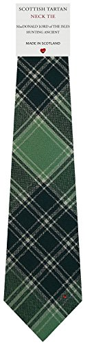 I Luv Ltd Cravate en Laine pour Homme Tissée et Fabriquée en Ecosse à MacDonald Lord Of The Isles Hunting Ancient Tartan