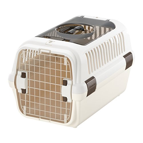 リッチェル キャンピングキャリーダブルドア Mサイズ 小型犬・猫用 アイボリー