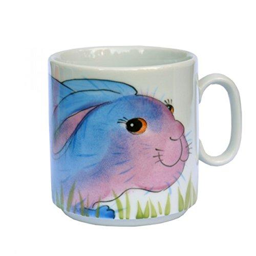 Helina Tilk Lapin empilable tasse à anse porcelaine peint à la main