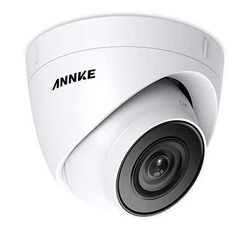 ANNKE C500 Turret 5MP Super HD PoE Telecamera IP per Kit Videosorveglianza con Audio Visione Notturna EXIR 2.0 Scheda TF 256GB 120 dB WDR e 3D DNR IP67 ONVIF IP67 Esterno(solo Admite H.265/H.265+)