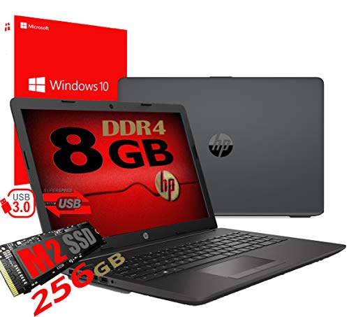 Notebook Pc Portatile HP 255 G7 Display 15.6' /Cpu Amd A4 da 2,3ghz A 2,6GHz /Ram 8Gb ddr4 /SSD M2 256GB /Vga Radeon R3 / Hdmi / Masterizzatore Wifi Bluetooth /Licenza Windows 10 pro + Open Office