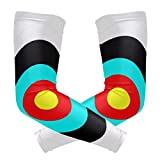 LEVEIS Dart Target Arm Sleeves UV Protection for Men Women Sunblock Protective Gloves Running Golf Cycling Driving Long Arm Cover 1 Pair