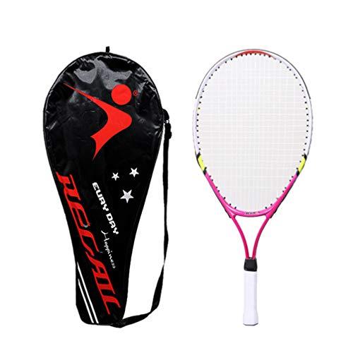 1 conjunto de raquete de tênis infantil Besportble, raquete de tênis de liga colorida com bolsa para jogos de lazer ao ar livre adolescentes (vermelho)