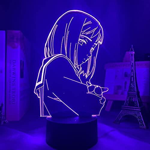 Lámpara de ilusión 3D LED de luz nocturna Anime FLC Waifu Manga estúpida Mamimi Samejima para decoración de dormitorio Niños sueño luz regalo de cumpleaños para niñas niños