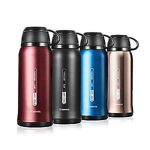 Y·J&H Termo de Vacío de Doble Pared,Botella de Agua Acero Inoxidable sin BPA,Botellas Frío/Caliente,Botellas Termica para Niños, Colegio, Oficina, Trekking - 650ml Rojo