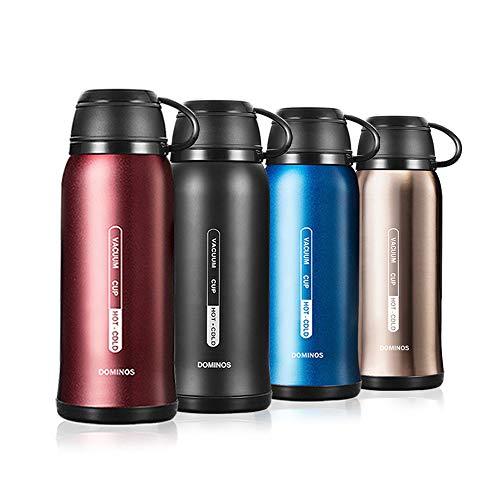 Y·J&H Termo de Vacio de Doble Pared,Botella de Agua Acero Inoxidable sin BPA,Botellas Frio/Caliente,Botellas Termica para Ninos, Colegio, Oficina, Trekking - 650ml Rojo
