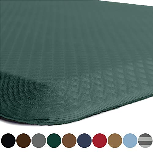 Kangaroo Original Standing Mat Kitchen Rug, Anti Fatigue Comfort Flooring, Phthalate Free, Commercial Grade, Waterproof, Ergonomic Floor Pad for Office Stand Up Desk, 70x24, Hunter Green