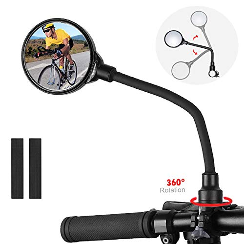 CXW Bike Mirror for Handlebar, Adjustable Long Bicycle Rear View Side Mirror (1 Pack)