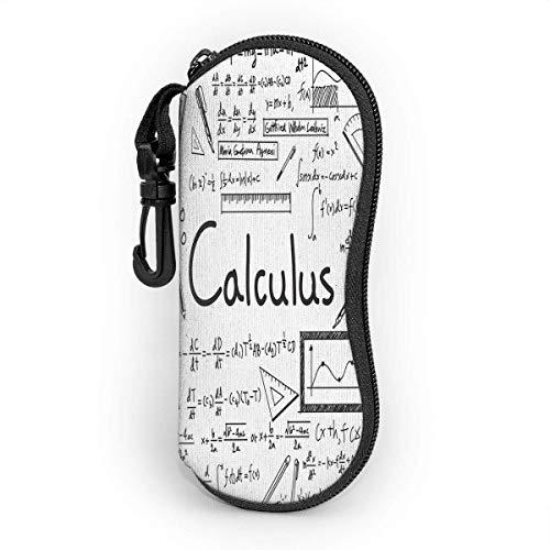 Funda de fórmula matemática, impermeable, suave, con mosquetón, caja de gafas de sol de alta calidad, ligera, almacenamiento portátil, con cremallera, para todos los gses