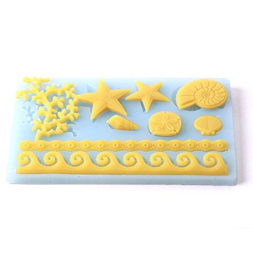 World Of Moulds F0250-5 Moule en Silicone pour décorations de gâteaux en Forme de Corail, PVC, 18,8 x 12 x 3,5 cm