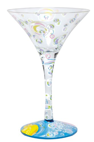 Lolita Bubble Bath-tini Martini Glass Retired - Hand-Painted GLS4-5585G