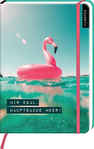 myNOTES Notizbuch A5: Mir egal. Hauptsache Meer!: Notebook medium, gepunktet   Für mehr Urlaubsfeeling: Ideal als Bullet Journal oder Tagebuch