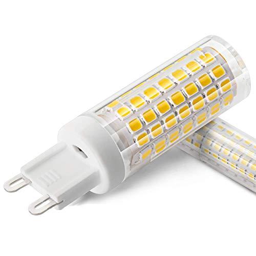 XIX G9 Sockel 6W LED Glühbirne, äquivalent zu 70W Halogenlampe Ersatz, AC 100V-265V, stabiler Strom, 3000K Warmweiß, kein Flimmern, nicht dimmbar. Packung mit 2 Stück