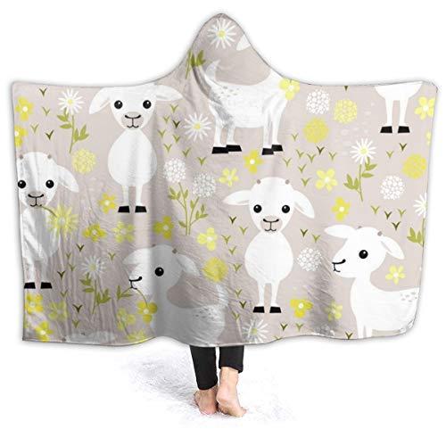 Zachary Sherman Baby Goats deken met hoed, warme deken voor eenpersoonsbed, hoogwaardig, elegant, multifunctioneel, zacht en dik