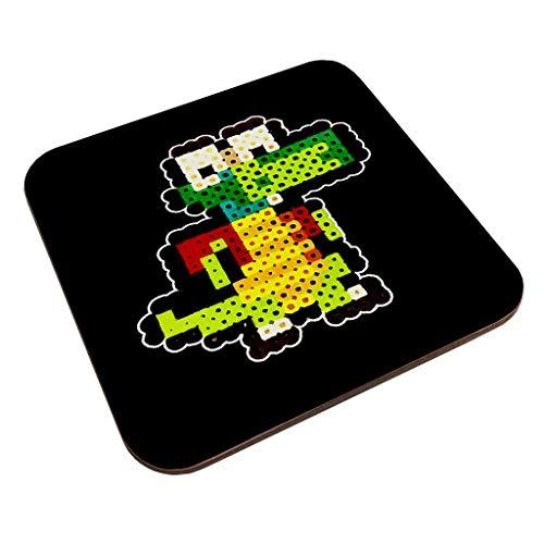Croc 8bit Pixel Character Bead Coaster
