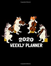 2020 Weekly Planner: Funny Cat Animal Music Lover Violin & Cello Themed Organizer Journal - Cute And Unique Gift Ideas