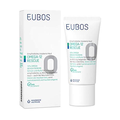 Eubos | Omega Gesichtscreme | 50ml |für empfindliche und trockene Haut | Hautvertäglichkeit dermatologisch bestätigt | bestätigt Omega-Fettsäuren | Hochwertige natürliche Öle