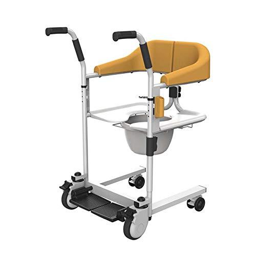 Abnehmbare Senioren Transport Rollstuhl,Transferheber für Behinderte Patienten Behinderung ältere Menschen,Tragbarer Transportlift,Duschstuhl Sitz Hebebühnen Wagen,Kommode über Toilettensitz,Orange