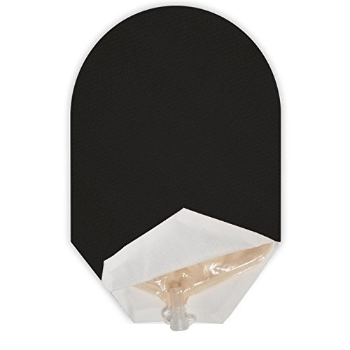 Solid Color Ostomy Pouch Cover Open Ended (Black)