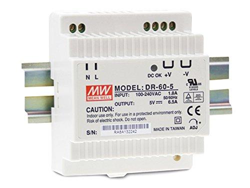 Hutschienen Netzteil 60W 15V 4A ; MeanWell, DR-60-15 ; Hutschienennetzteil