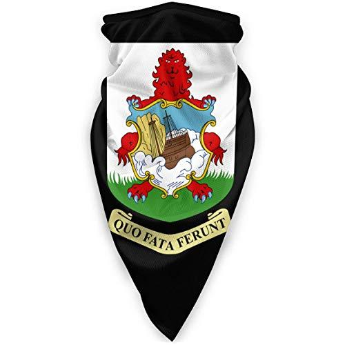 Mascarilla Nacional Emblema de las Bermudas calentador a prueba de viento para la cara máscara al aire libre